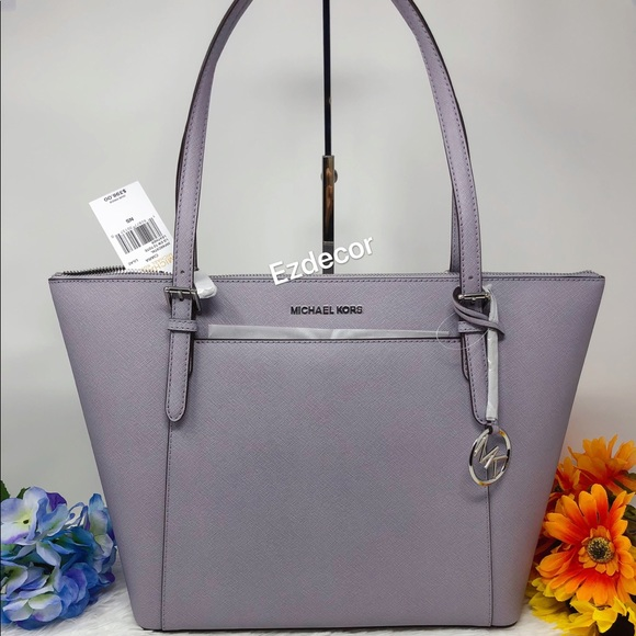 de814eb95db1 NWT Michael Kors Ciara Large Leather Tote Lilac